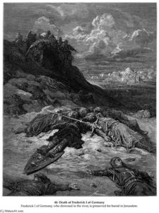 Paul Gustave Doré - Death of Frederick I of Germany