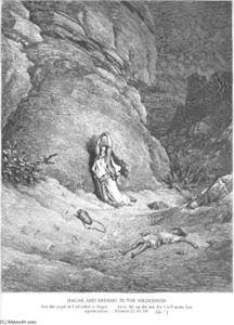 Paul Gustave Doré - Hagar and Ishmael in the Wilderness