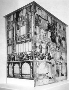 Hans Holbein The Younger - Model of the dance house in Basel