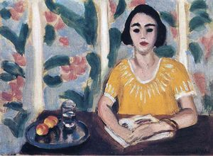 Henri Matisse - Woman Reading with Peaches