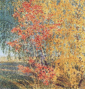 Igor Emmanuilovich Grabar - Autumn, Rowan Tree and Birches