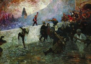 Ilya Yefimovich Repin - In the besieged Moscow in 1812