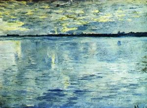 Isaak Ilyich Levitan - Lake. Evening.
