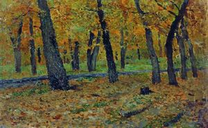 Isaak Ilyich Levitan - Oak grove. Autumn.