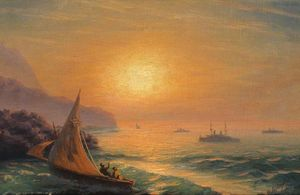 Ivan Aivazovsky - Sunset at Sea