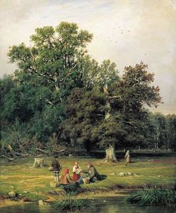 Ivan Ivanovich Shishkin - Gathering Mushrooms