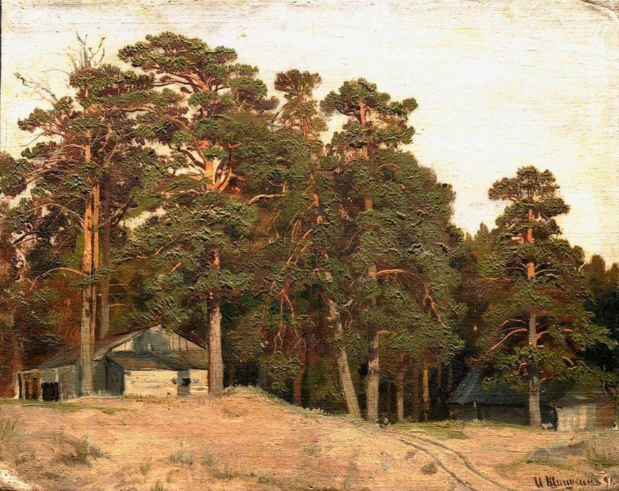 Order Reproductions Impressionism | Sandy road by Ivan Ivanovich Shishkin | TopImpressionists.com