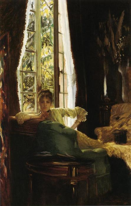famous painting Woman in an Interior of James Jacques Joseph Tissot