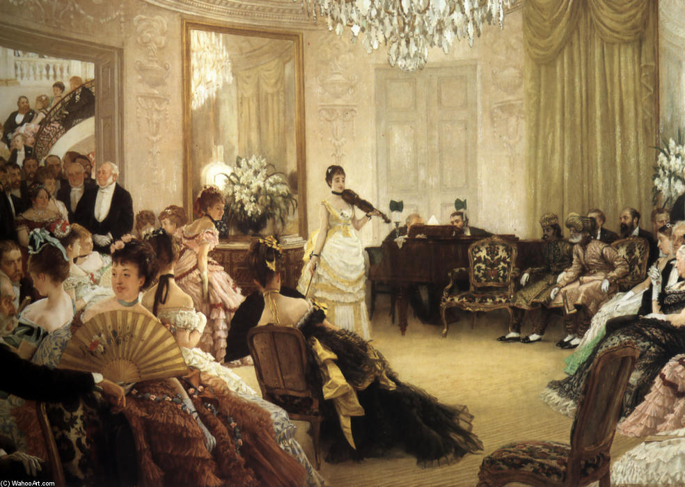 famous painting Hush! (The Concert) of James Jacques Joseph Tissot
