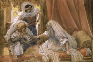 James Jacques Joseph Tissot - Jacob Deceives Isaac