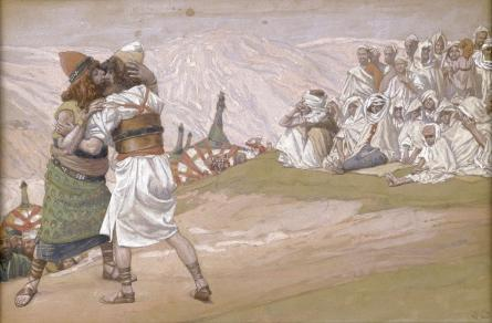 famous painting The Meeting of Esau and Jacob of James Jacques Joseph Tissot