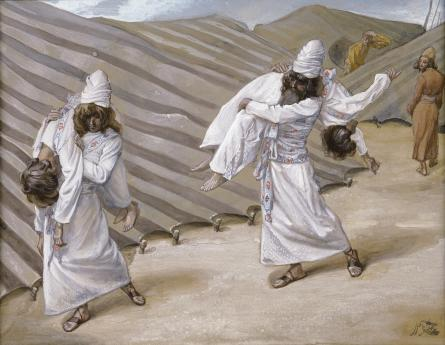 famous painting The Dead Bodies Carried Away of James Jacques Joseph Tissot