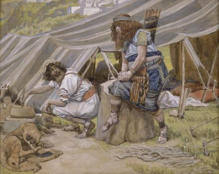 famous painting The Mess of Pottage of James Jacques Joseph Tissot