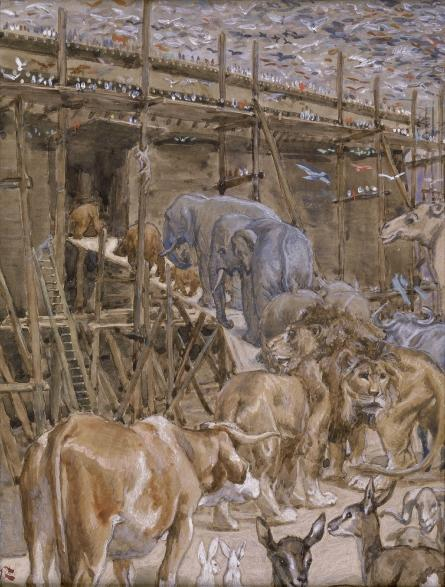 famous painting The Animals Enter the Ark of James Jacques Joseph Tissot