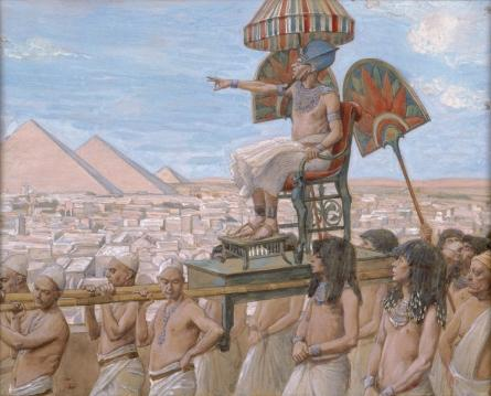 famous painting Pharaoh Notes the Importance of the Jewish People of James Jacques Joseph Tissot