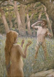 James Jacques Joseph Tissot - Adam Is Tempted by Eve