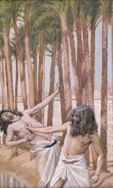 famous painting Moses Slays an Egyptian of James Jacques Joseph Tissot