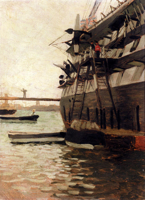 famous painting The Hull Of A Battle Ship of James Jacques Joseph Tissot