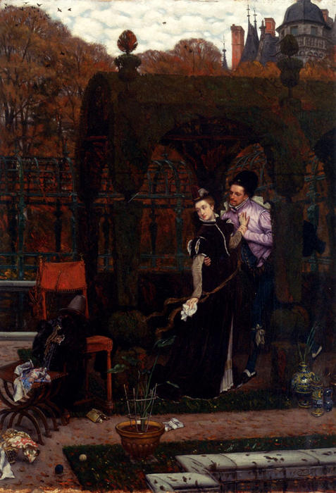 famous painting The Rendez Vous of James Jacques Joseph Tissot