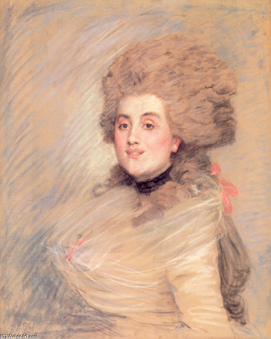 famous painting Portrait of an Actress in Eighteenth Century Dress of James Jacques Joseph Tissot