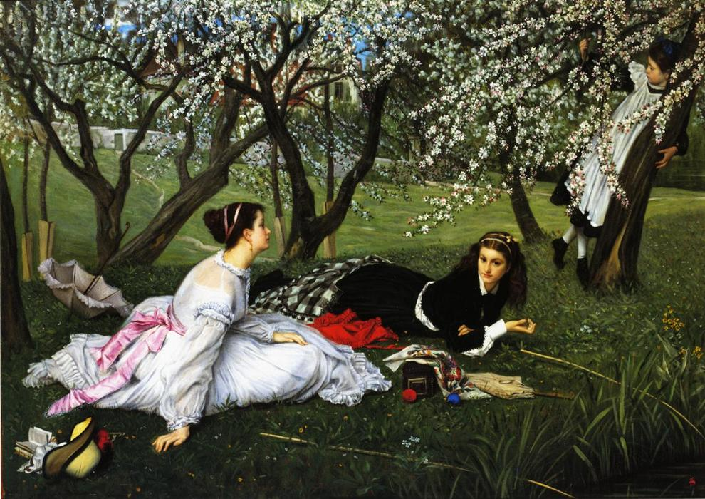 famous painting Spring of James Jacques Joseph Tissot