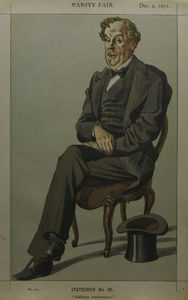 James Jacques Joseph Tissot - Caricature of Alexander Baillie Cochrane M.P.