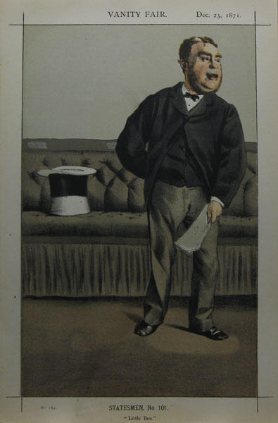 famous painting Caricature of George Cavendish Bentinck of James Jacques Joseph Tissot