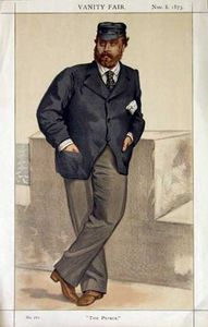 James Jacques Joseph Tissot - Caricature of Edward, Prince of Wales
