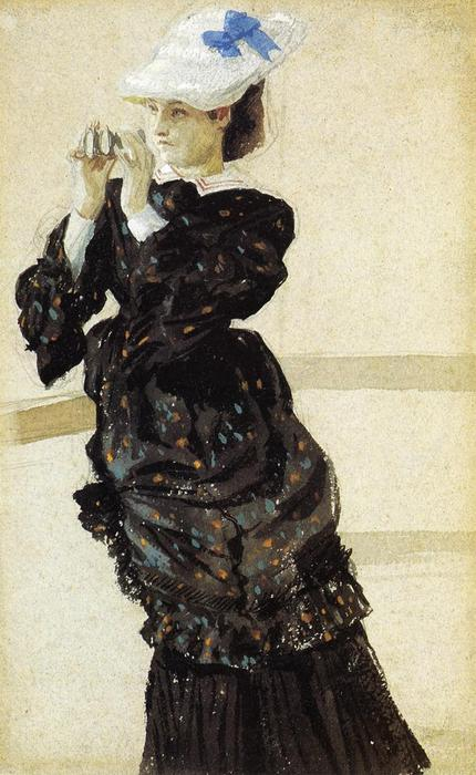 famous painting The Captain's Daughter of James Jacques Joseph Tissot