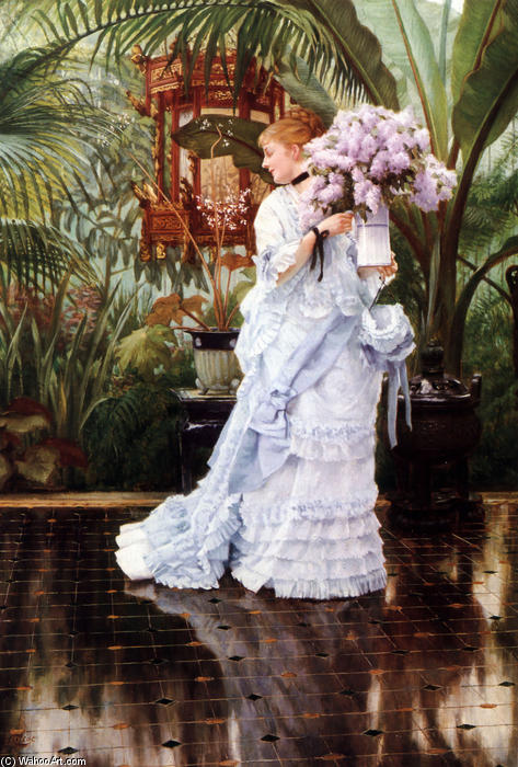 famous painting The Bunch of Lilacs of James Jacques Joseph Tissot