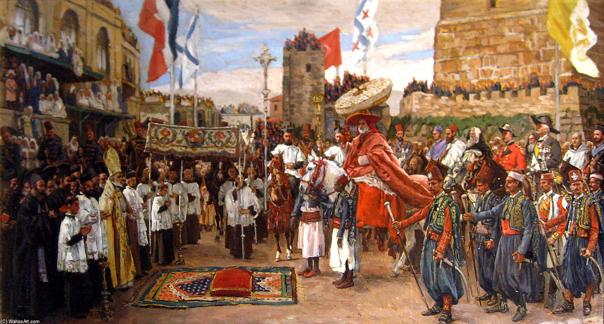 famous painting The Latin Patriarch of Jerusalem of James Jacques Joseph Tissot