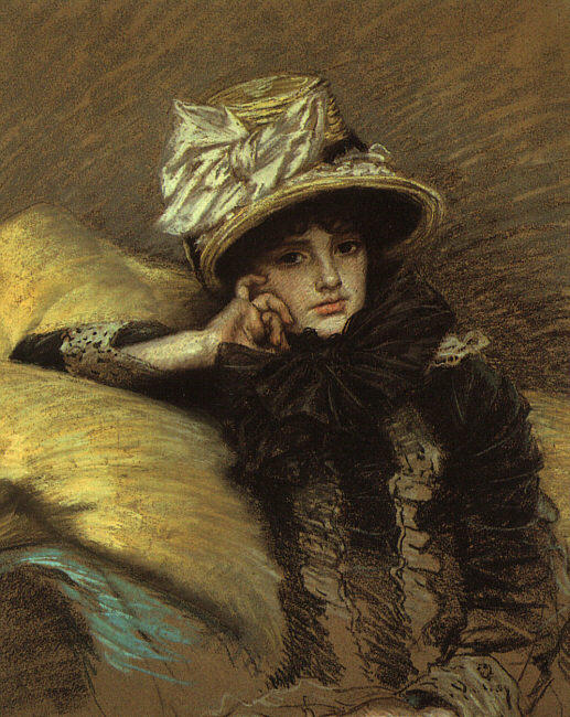 famous painting Berthe of James Jacques Joseph Tissot