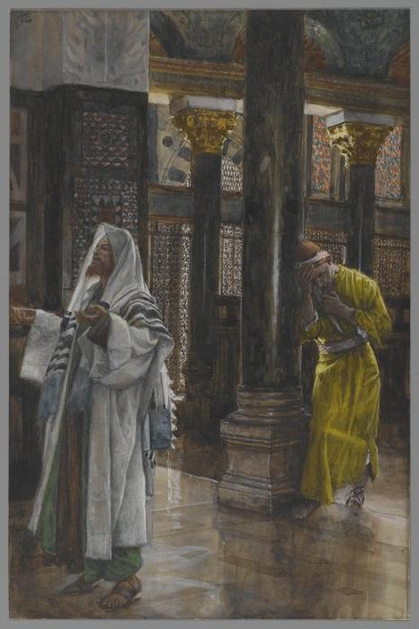 famous painting The Pharisee and the Publican of James Jacques Joseph Tissot