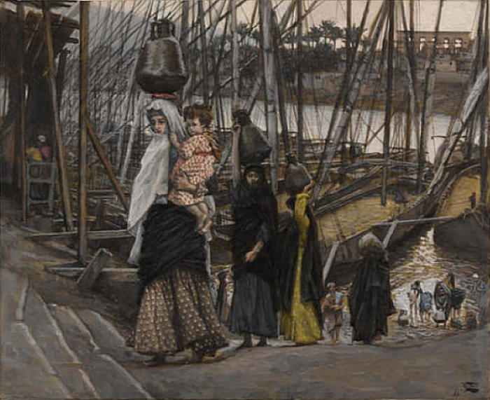famous painting The Sojourn in Egypt of James Jacques Joseph Tissot