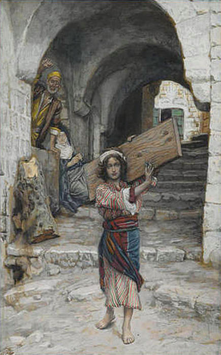 famous painting The Youth of Jesus, illustration for 'The Life of Christ' of James Jacques Joseph Tissot