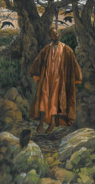 famous painting Judas Hangs Himself, illustration for 'The Life of Christ' of James Jacques Joseph Tissot