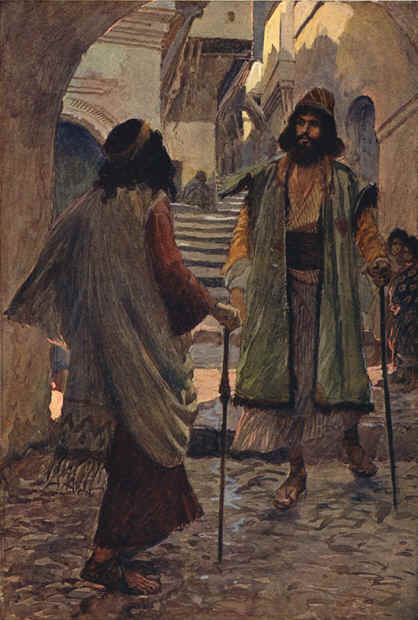 famous painting Saul meets with Samuel of James Jacques Joseph Tissot