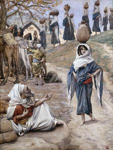 James Jacques Joseph Tissot - Abraham's Servant Meeteth Rebecca