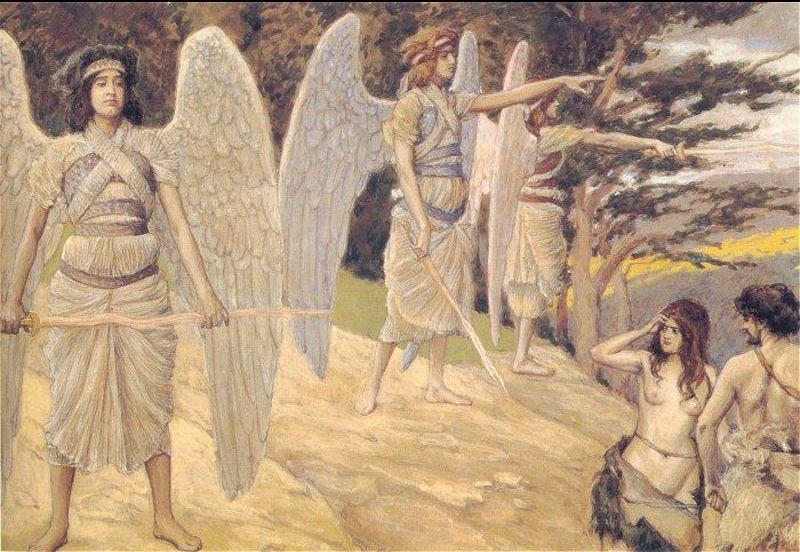 famous painting Adam and Eve Driven from Paradise of James Jacques Joseph Tissot