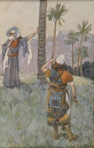 James Jacques Joseph Tissot - Deborah Beneath the Palm Tree