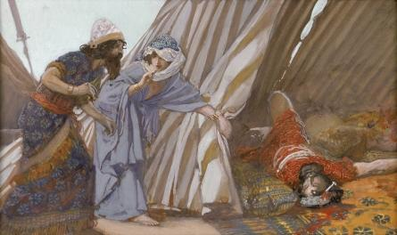 famous painting Jael Shows to Barak, Sisera Lying Dead of James Jacques Joseph Tissot