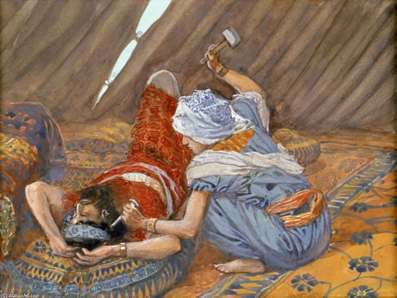 famous painting Jael Smote Sisera, and Slew Him of James Jacques Joseph Tissot