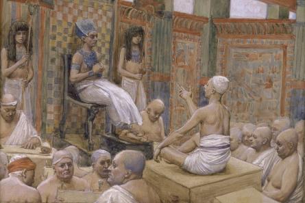 famous painting Joseph Interprets Pharaoh's Dream of James Jacques Joseph Tissot