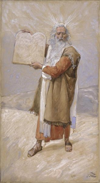 famous painting Moses and the Ten Commandments of James Jacques Joseph Tissot