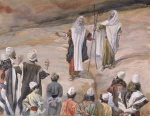 James Jacques Joseph Tissot - Moses Forbids the People to Follow Him