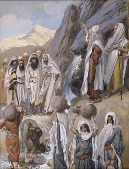famous painting Moses Strikes the Rock of James Jacques Joseph Tissot