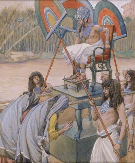famous painting Pharaoh and the Midwives of James Jacques Joseph Tissot