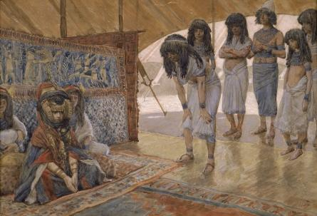 famous painting Sarai Is Taken to Pharaoh's Palace of James Jacques Joseph Tissot