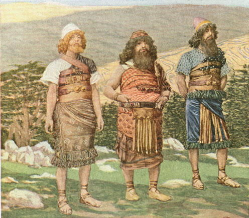 famous painting Shem, Ham and Japheth of James Jacques Joseph Tissot
