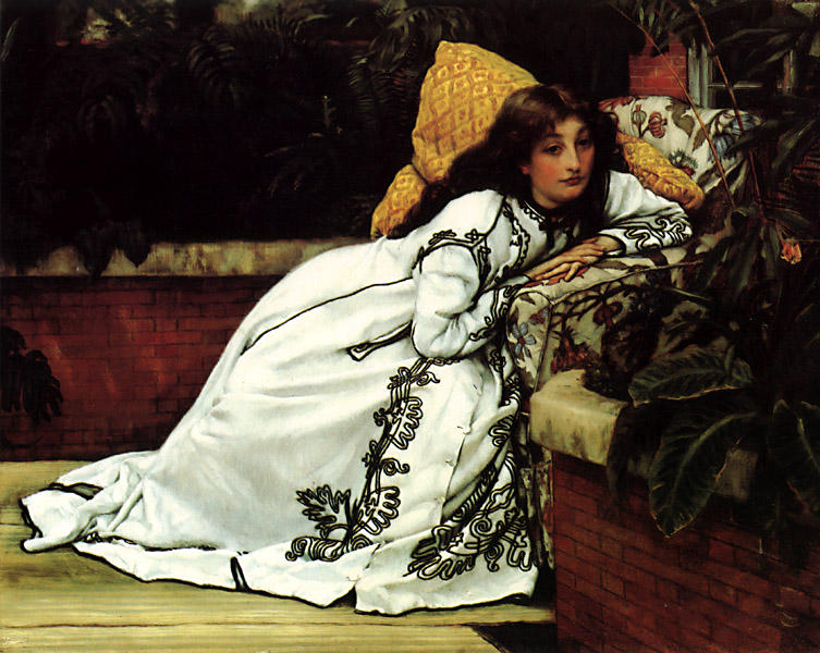 famous painting A Girl in an Armchair of James Jacques Joseph Tissot